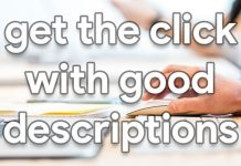 get the click with good descriptions