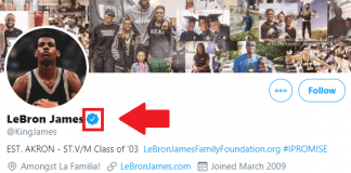 Twitter verified Lebron James