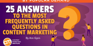 25 Answers to the Most Frequently Asked Questions in Content Marketing