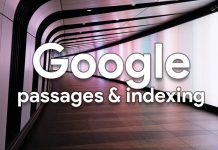 Google passages indexing