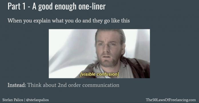your freelancer inbound funnel starts with a good one liner