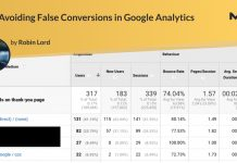 Avoiding False Conversions in Google Analytics
