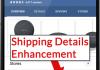 Screenshot of Product Shipping Enhancement