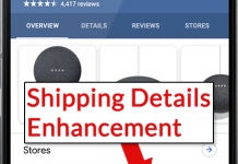 Screenshot of Product Shipping Enhancement