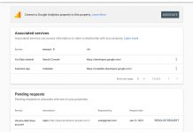 Google Search Console adds 'associations' so you can link with other Google accounts