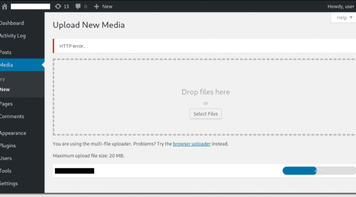 How to Fix an HTTP Error When Uploading Images to WordPress