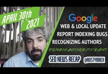 Google Web & Local Ranking Update, Reporting Indexing Issues, Recognizing Authors & A Bit Of A Rant